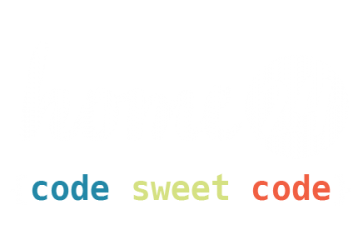 Home24 logo in white with caption code sweet code underneath