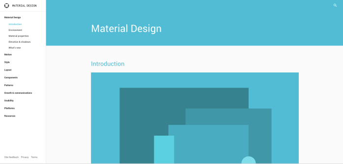 3-Material design language